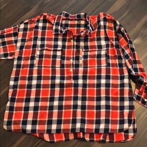 Orange and Navy flannel